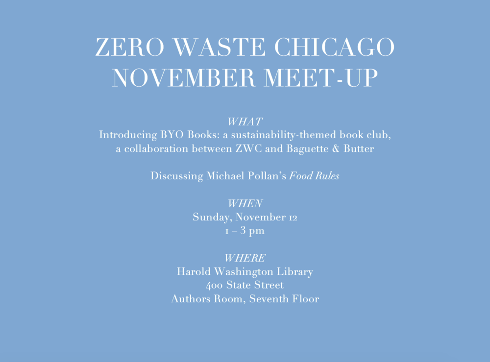 Zero Waste Chicago November 2017 community meet-up