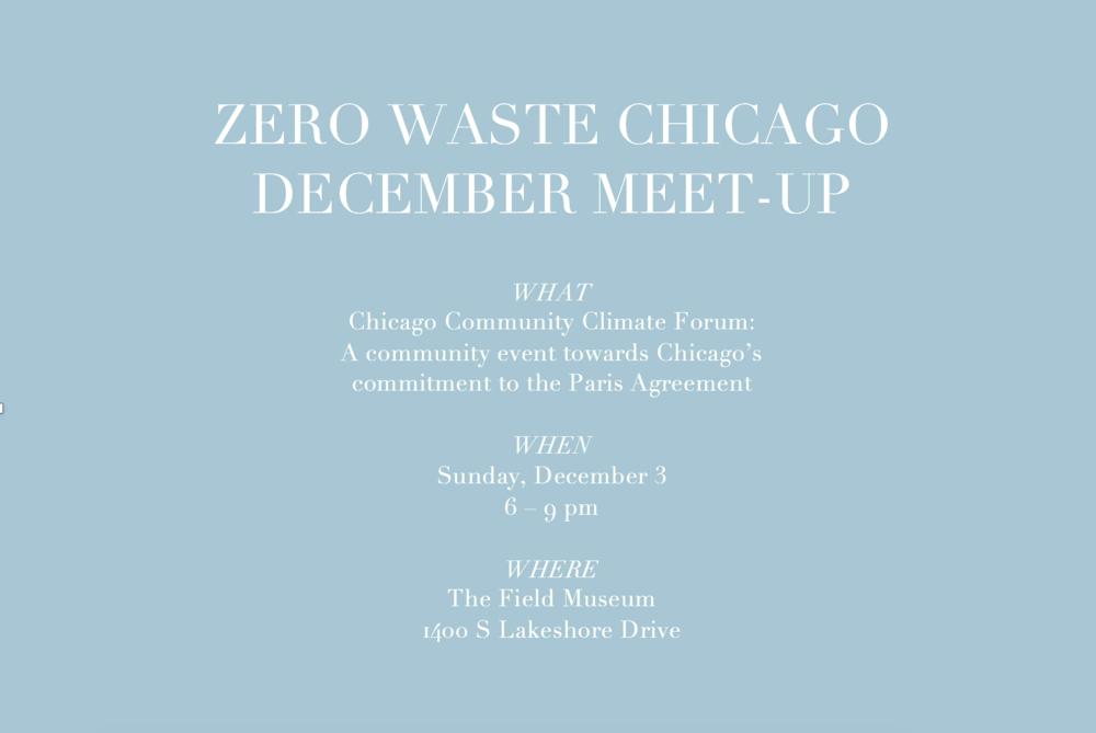 Zero Waste Chicago December 2017 community meet-up