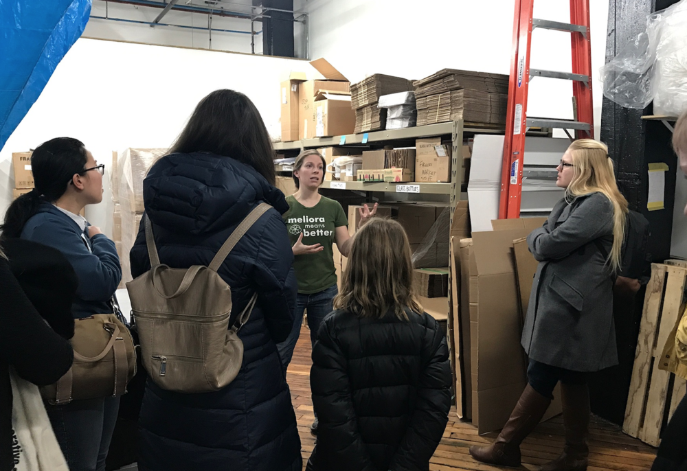 ZWC tours Meliora Cleaning Products | Zero Waste Chicago