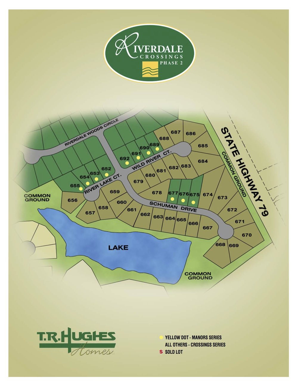 Riverdale Crossings Phase 2 plat map