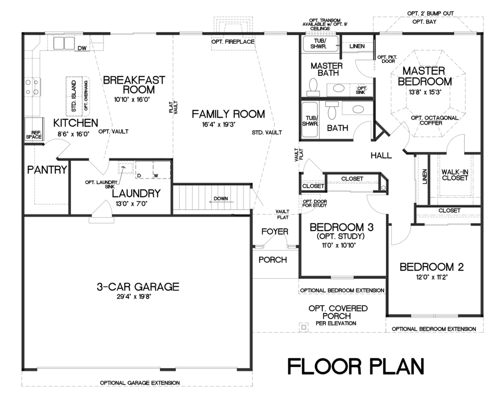 Rebecca - 3 Car Garage — T.R. Hughes Homes on two-story addition to ranch house plans, grand hotel floor plans, coventry house plan, two-story luxury house floor plans,