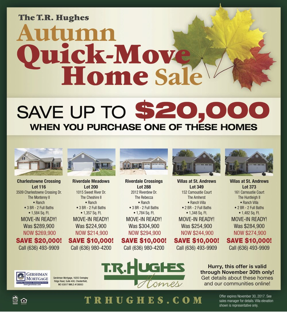 Save up to $20,000 with our Autumn Quick-Move Sale!