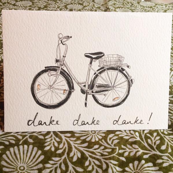 danke danke danke bike card