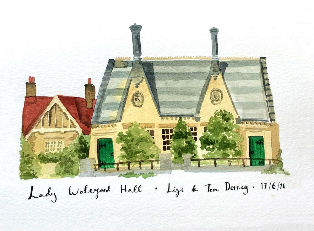 lady-waterford-hall-wedding-illustration-katie-chappell-Ford-live-building-venue-portrait.jpg