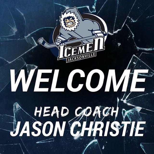 Just announced: Winningest coach in ECHL history to lead the #JaxIceMen! Welcome to the team, Coach. #echl #hockey #ilovejax #igersjax #jax #iloveFL