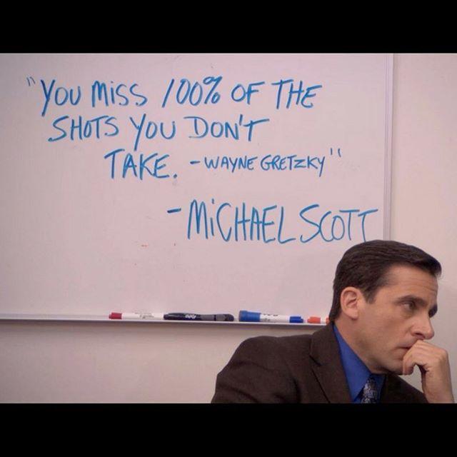 Wise words from Michael Scott. 😂 #jax #igersjax #ilovejax #hockey #thegreatone