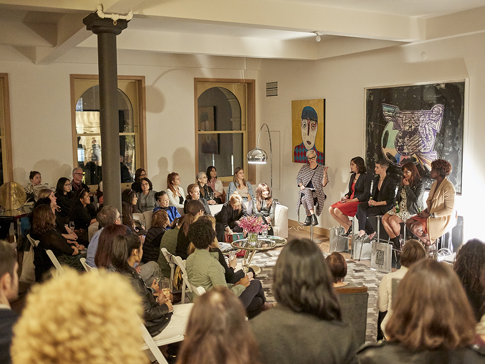 Panel discussion hosted by PULSE. Panelists included artnet News Associate Editor, Sarah Cascone; Justine Ludwig, Director of Exhibitions and Senior Curator at Dallas Contemporary; Marina Garcia-Vasquez, Editor-in-Chief, Creators Project; and Bahia Ramos, Director of the Knight Foundation.