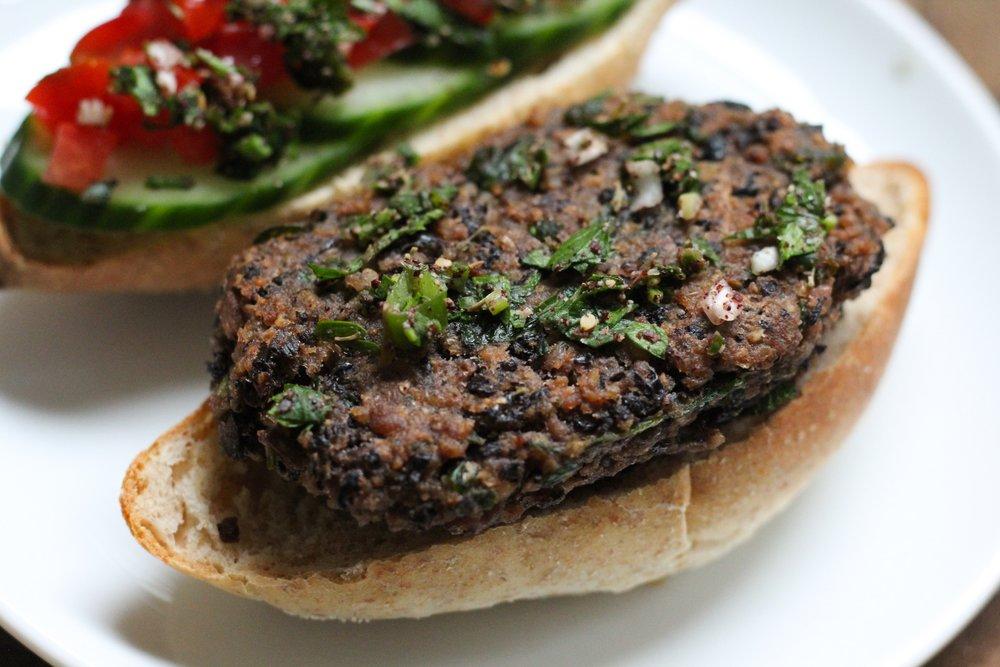 black bean burger / kebab 2