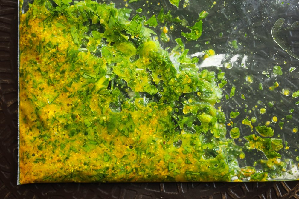 Fresh, Light, and Green Masgouf Marinade