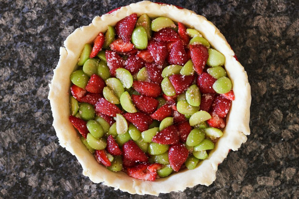 Strawberry Sour Plum Pie