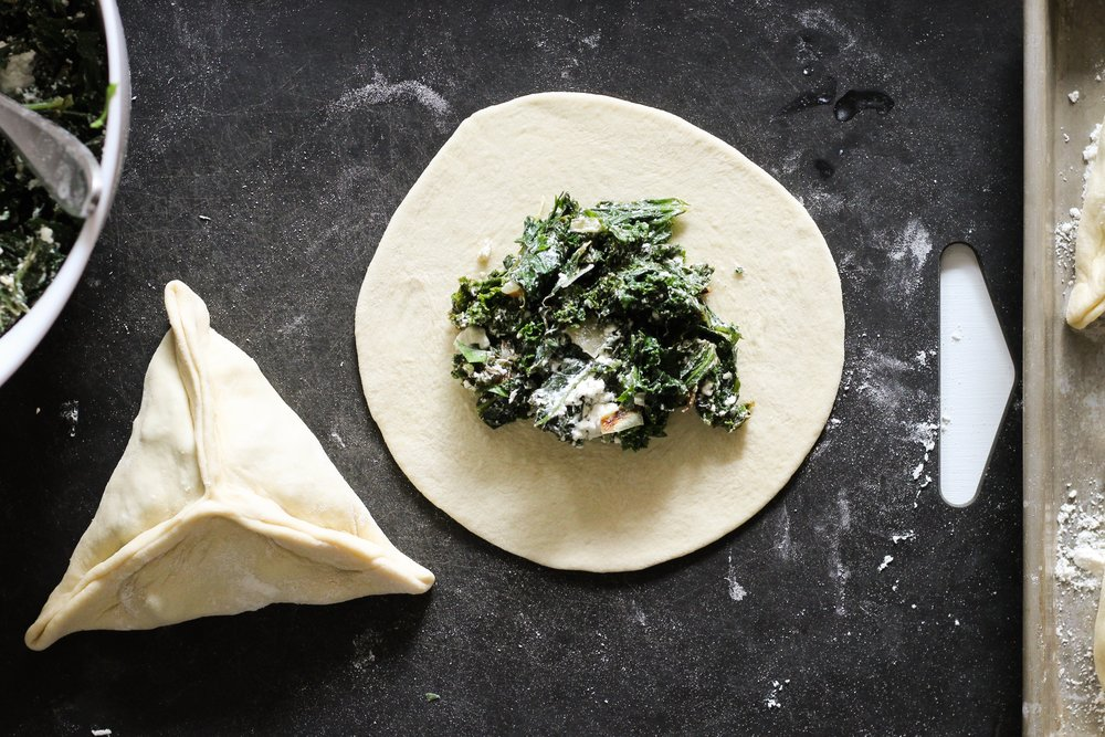Kale and Feta Fatayer