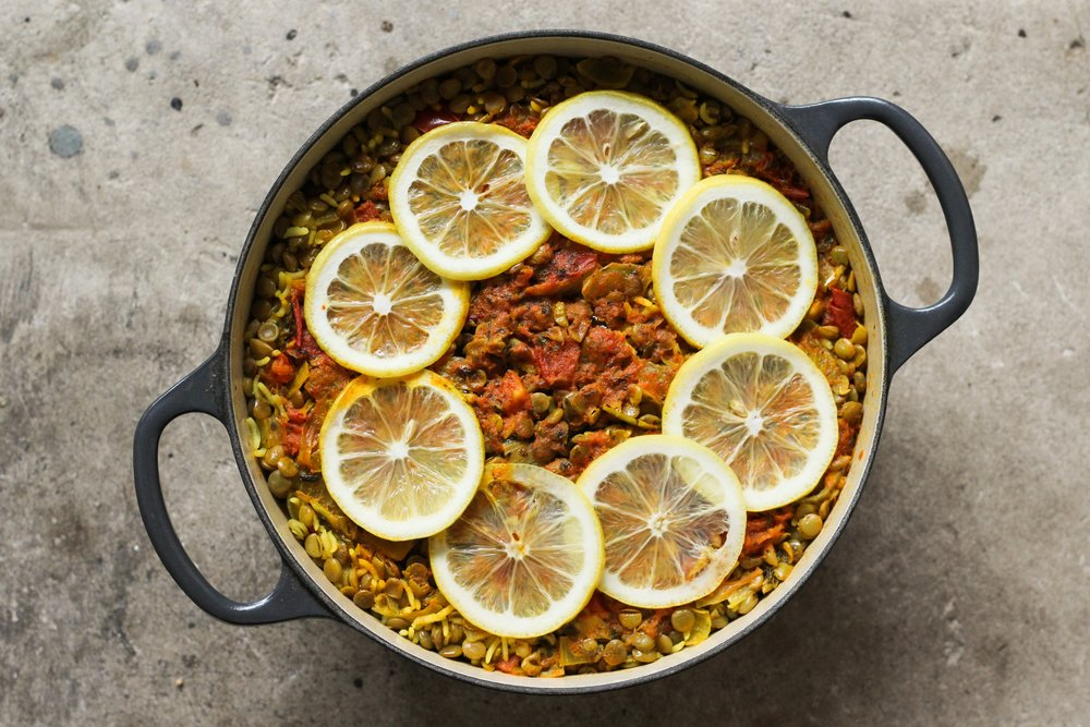 Piquant Lentils and Rice