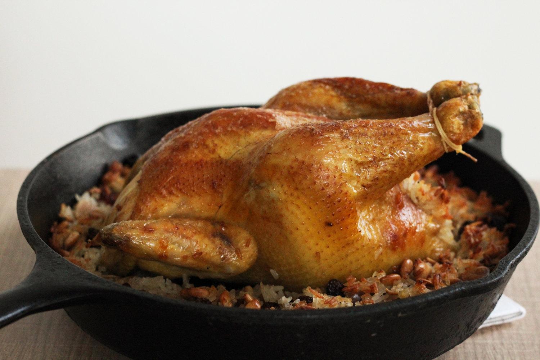 rice stuffed chicken | kthetha muhashta — Cardamom and Tea