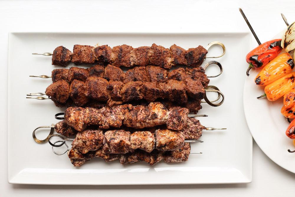 shish kebab on the fire