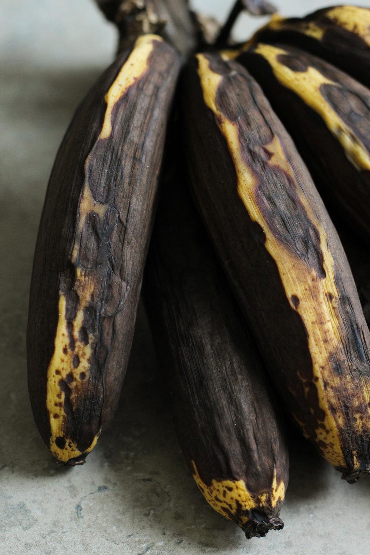 Old Bananas for Banana Bread