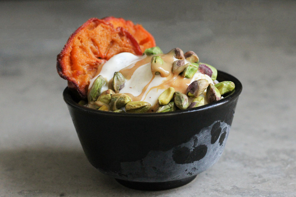 Slow Roast Persimmon Sundae
