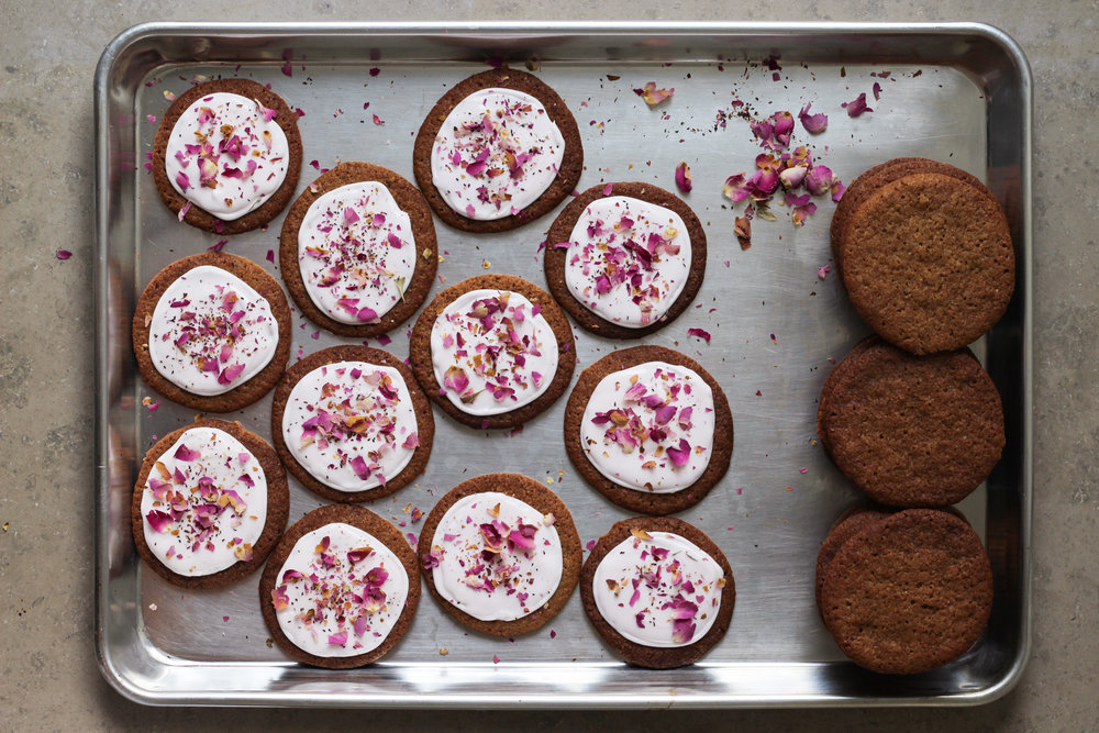 Rosewater and Cardamom Gingersnaps