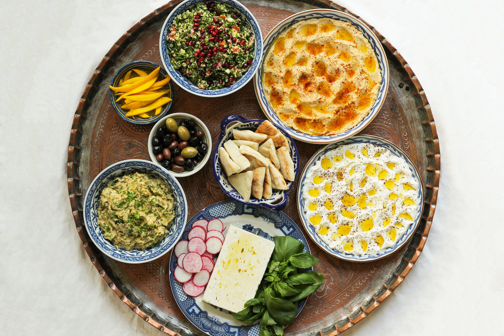 a meze for entertaining vegetarian guests