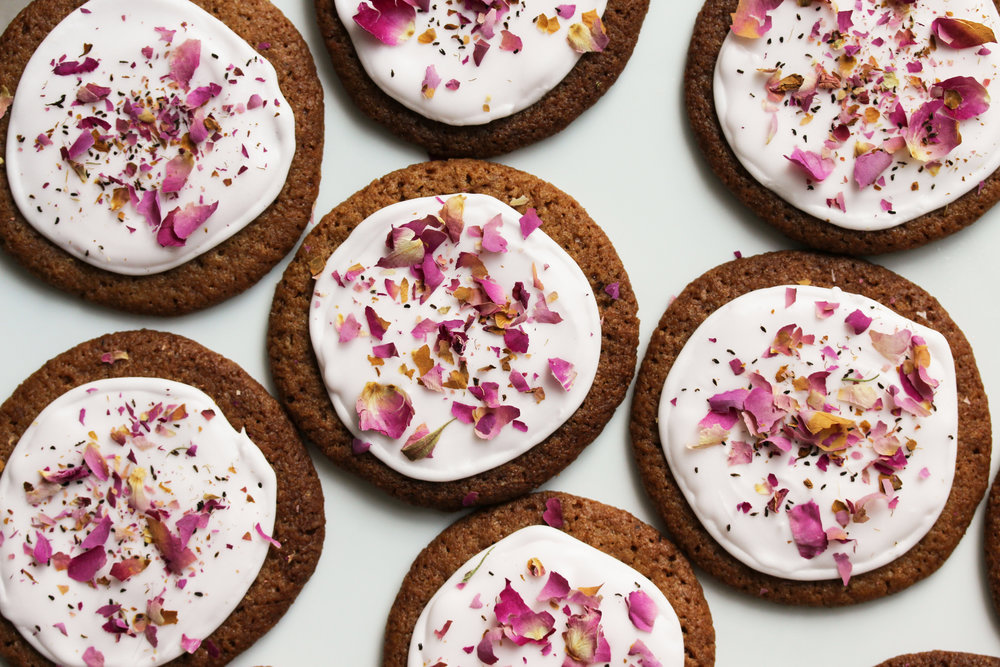 cardamom and rose gingersnaps