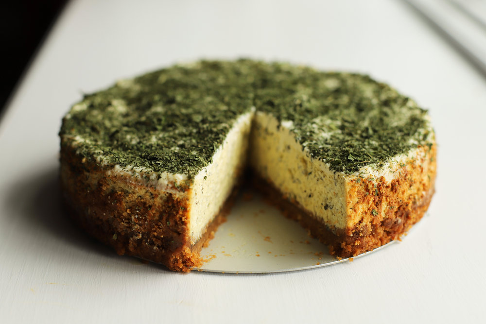 dried mint labneh cheesecake
