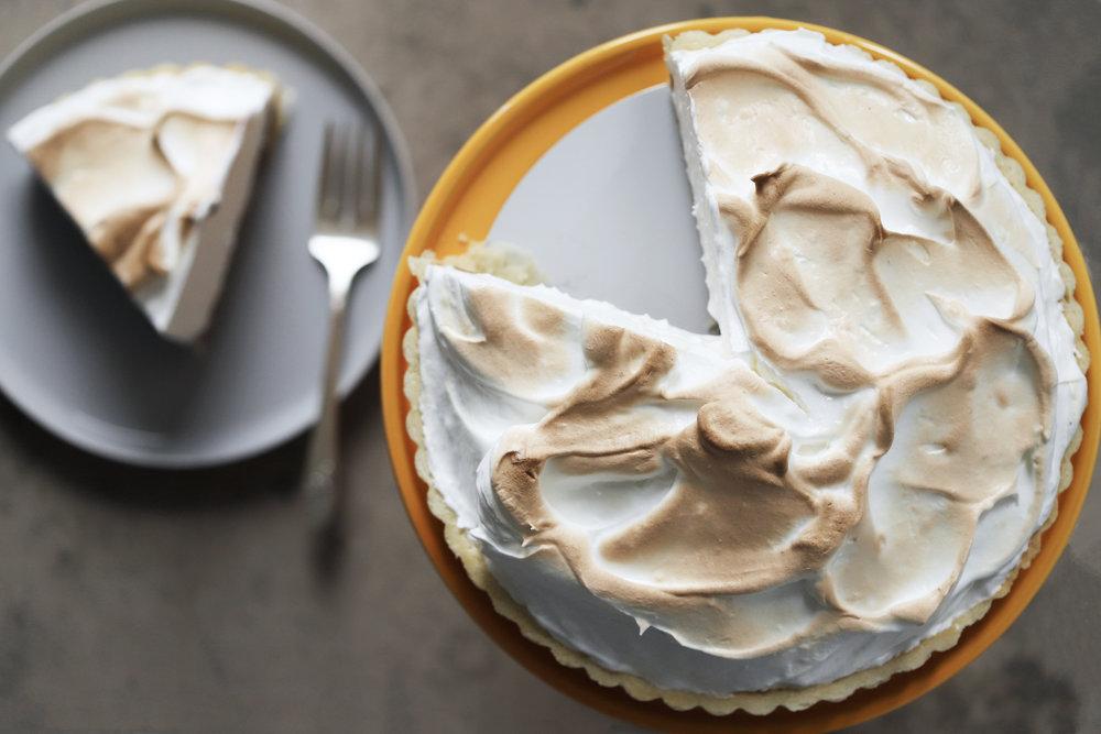 pomegranate molasses meringue pie