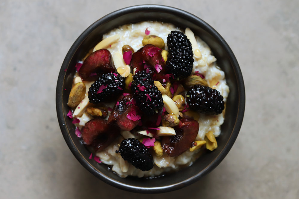 oatmeal 4 ways: rose berry