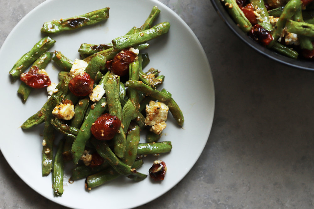 roast green bean salad