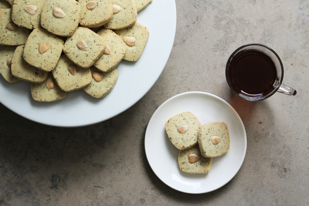 cardamom and tea ghraybeh