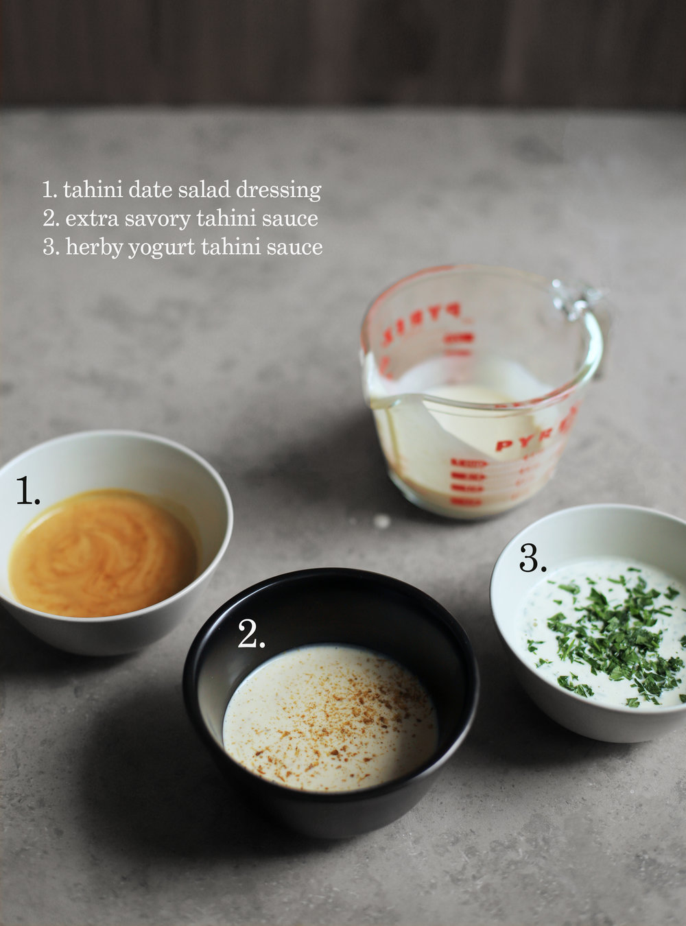 tahini lemon sauce variations