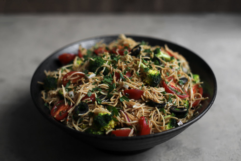 toasted broken vermicelli salad