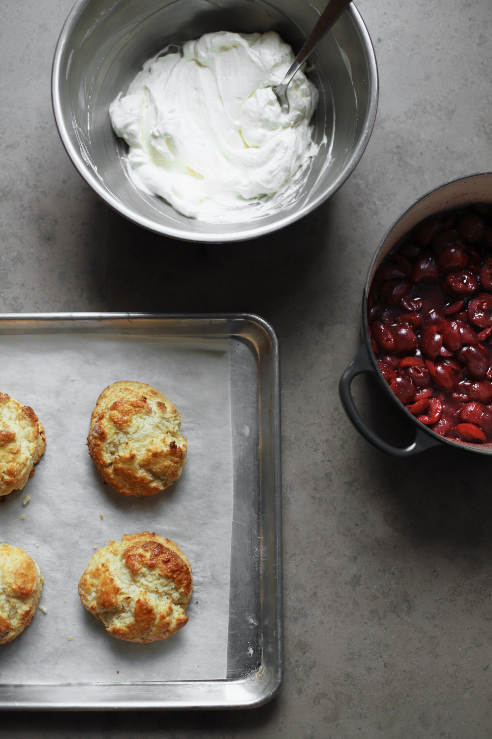 cherry sumac shortcakes