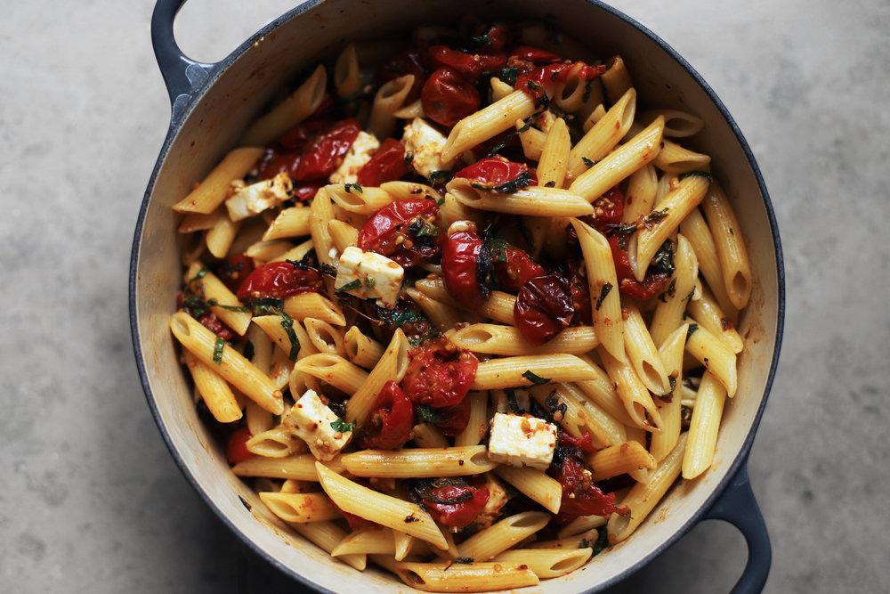 slow roast tomato pasta