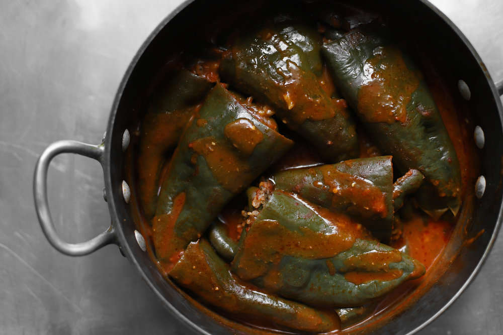 vegan pepper dolma