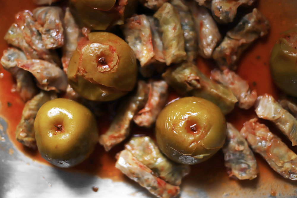 apple cabbage dolma