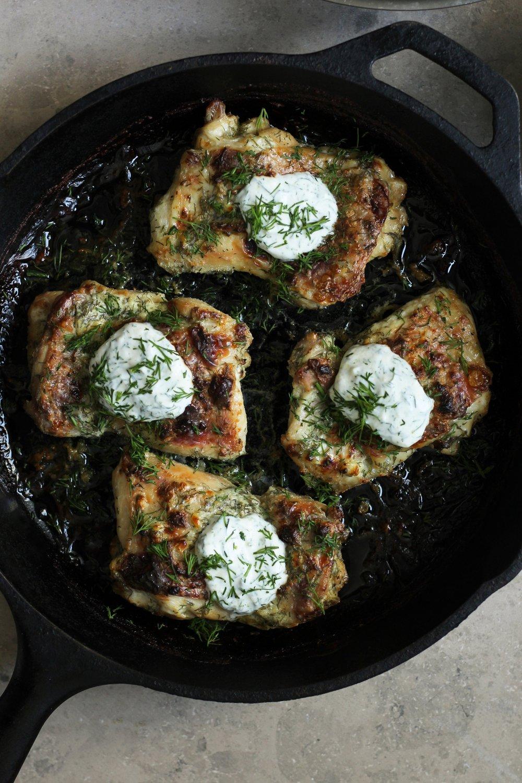 Jajik Chicken with Za'atar Potatoes