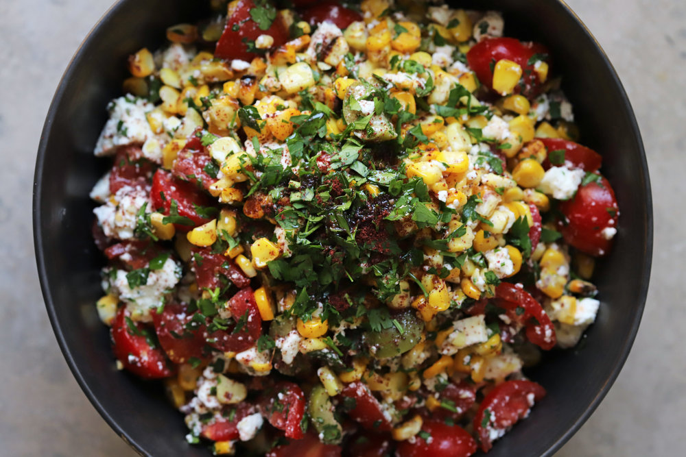 corn and sumac salad