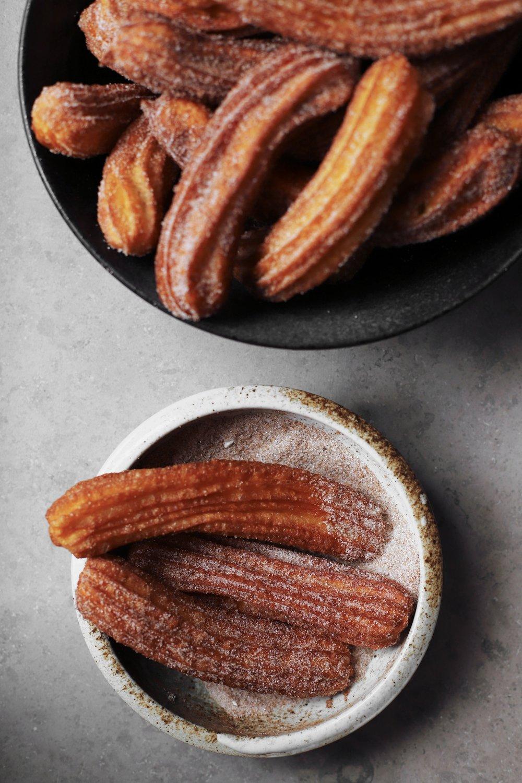 cardamom churros with orange blossom chocolate