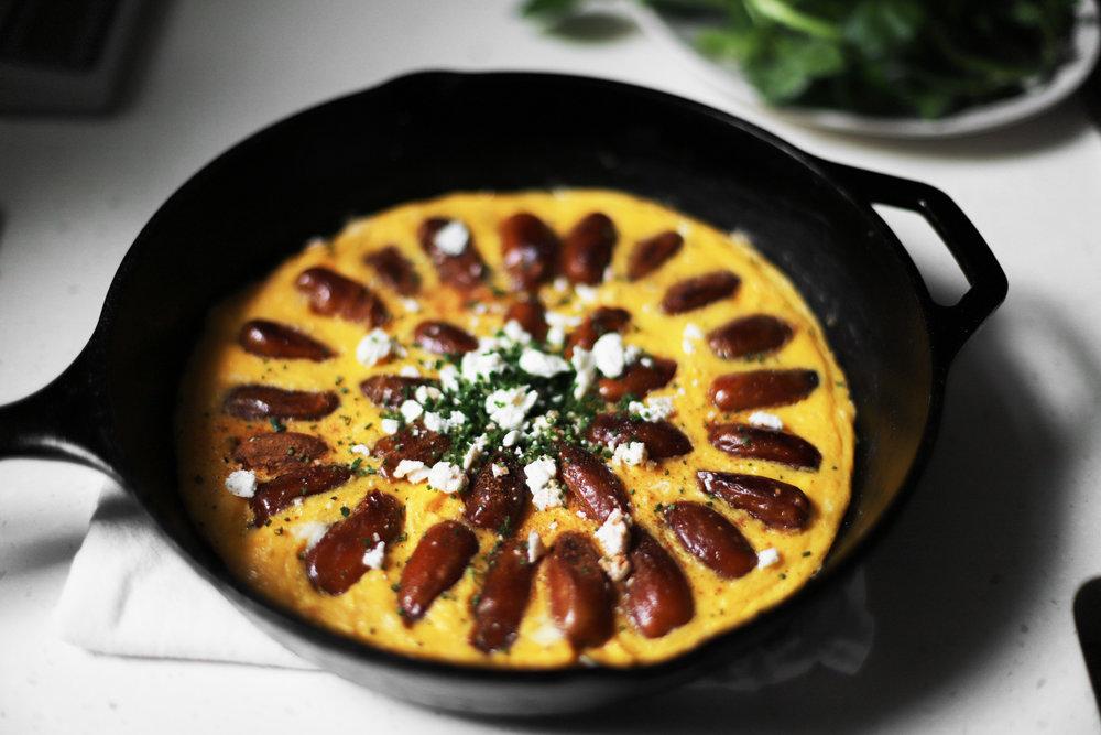 Persian date frittata