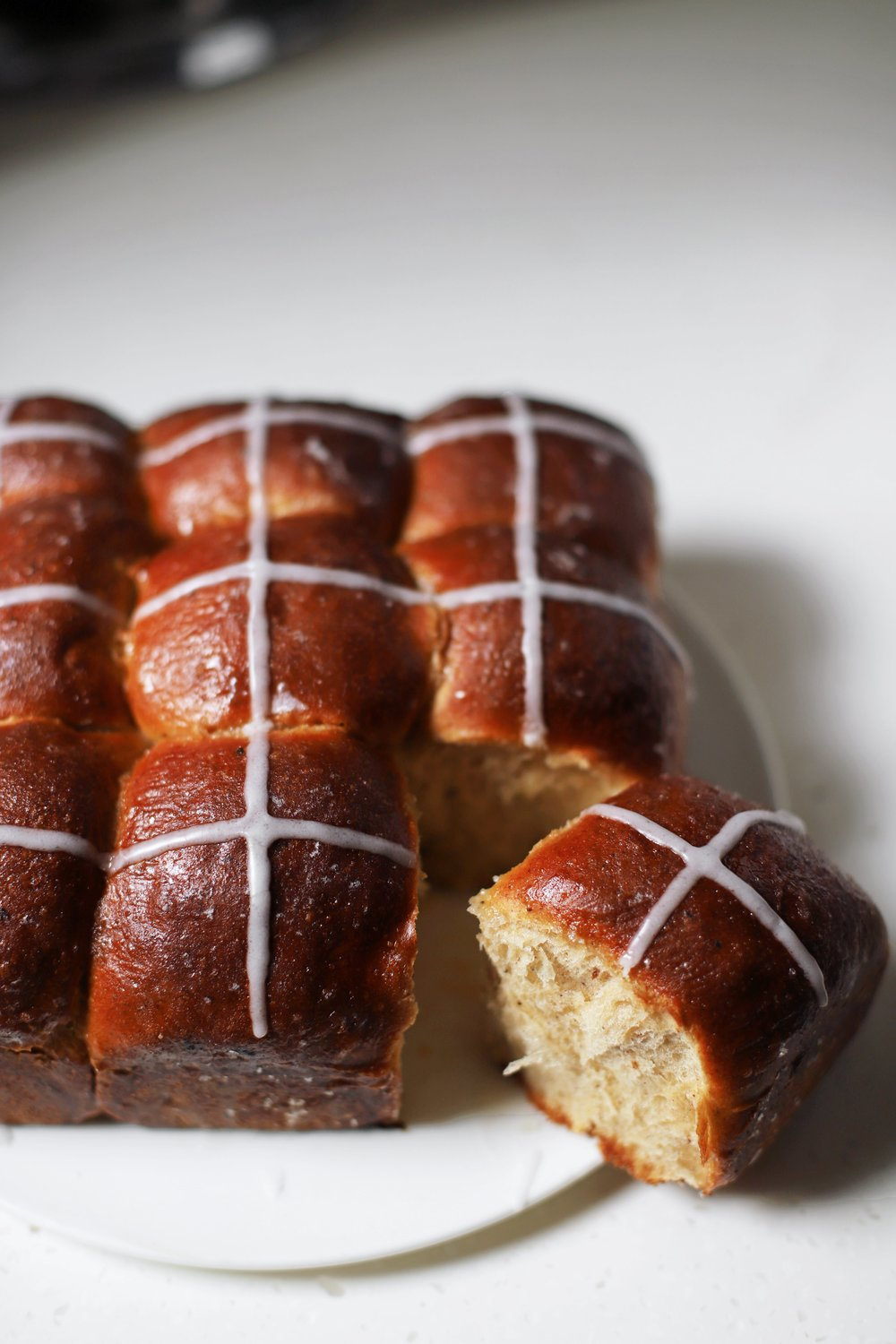 orange blossom banana hot cross buns