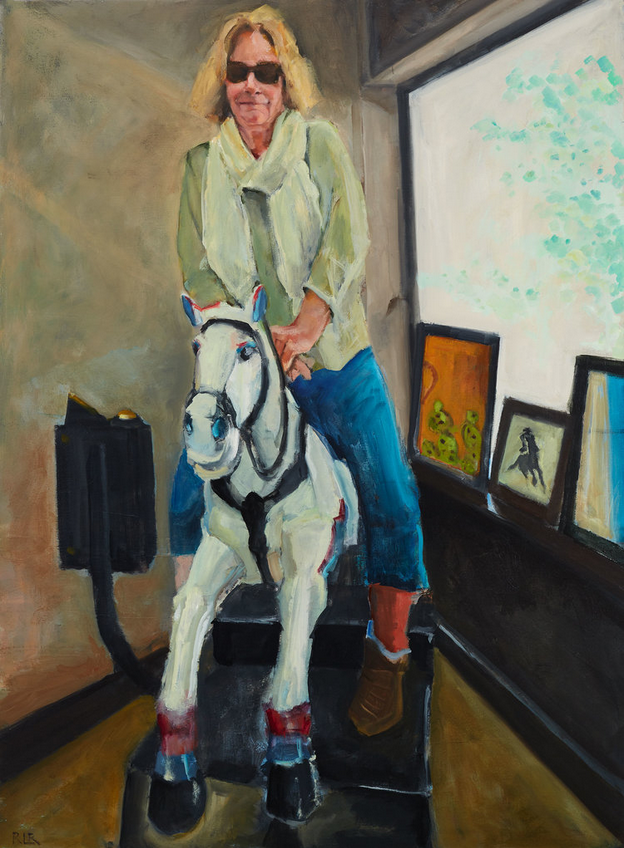 Drugstore Cowgirl, 2016, Oil on canvas, 44 x 32 in