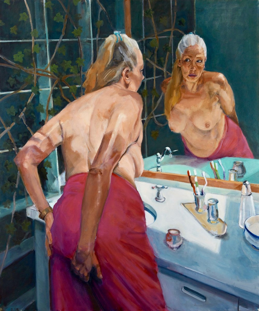 """Behind The scene  48""""x40""""  oil on canvas"""