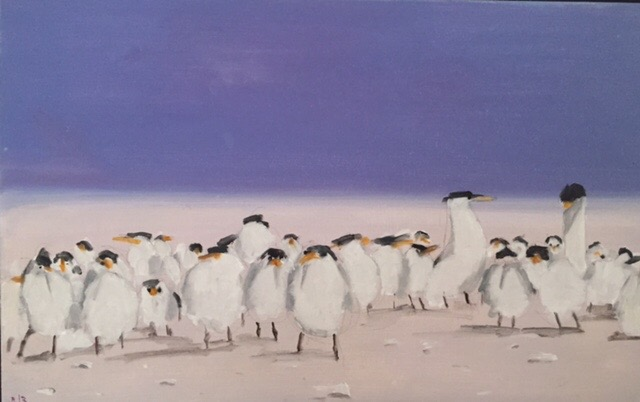 Terns  18x28  oil on canvas  2000