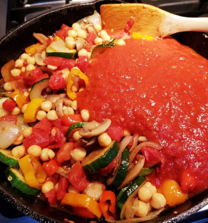 Stir in your pasta sauce.