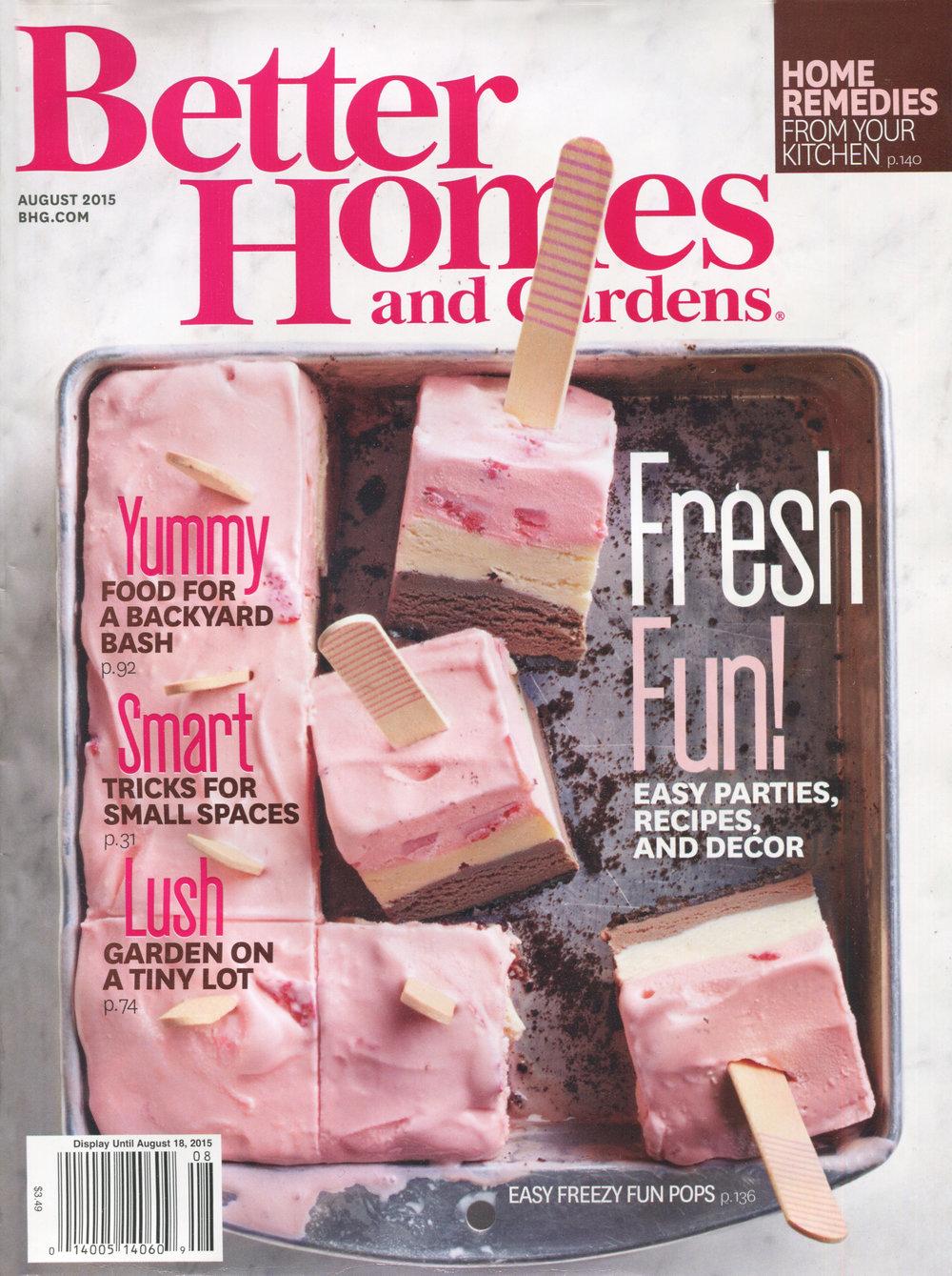 BETTER HOMES & GARDENS || august 2015