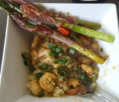 Shrimp 'N Cauliflower Grits Natalie Weaver