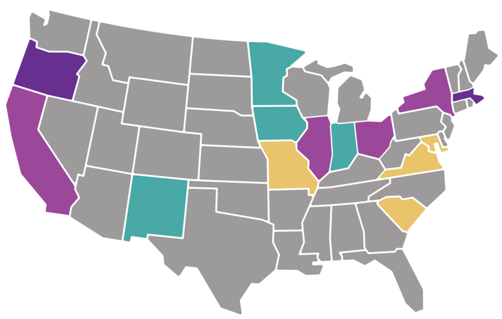 States where ACREO has been administerd