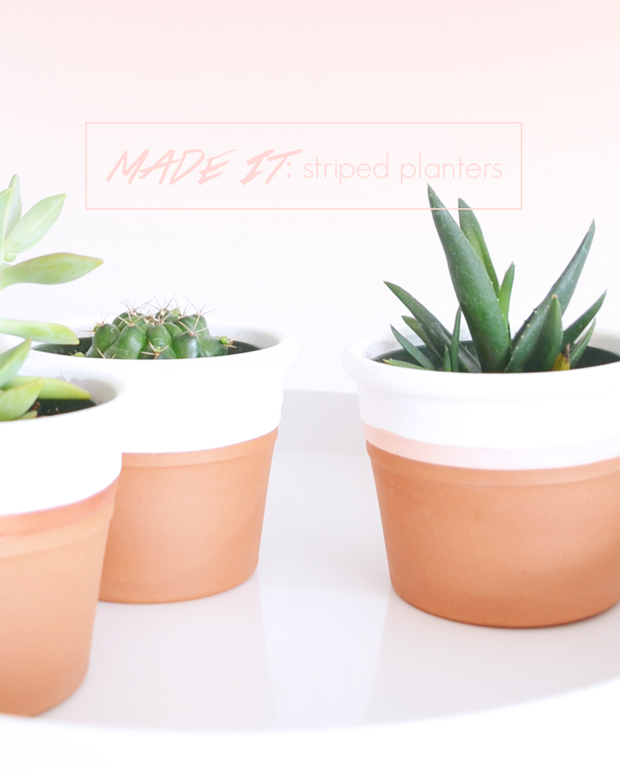 MADE IT: Striped Terra-Cotta Pots