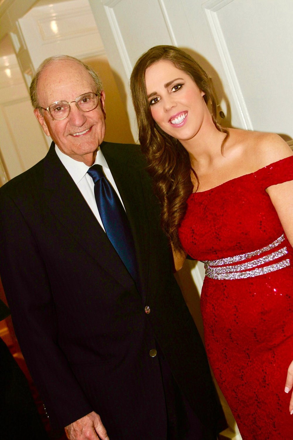 Aislinn and Senator George Mitchell