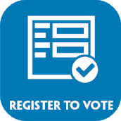 Click above to register to vote with the secretary of state