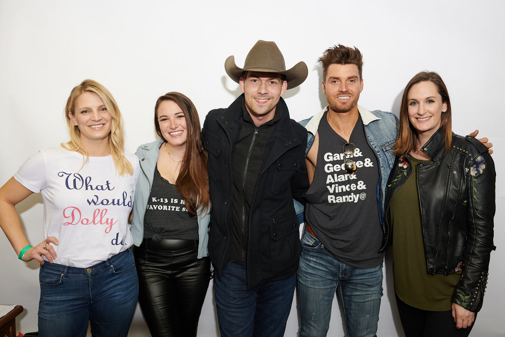 L to R:  Morris Light & Sound's, Alexa Simpson; YEP Director of Alumni & Executive Relations, MaryAnn Keen; YEP Executive Director, Amelia Varni; Show Headliner, William Michael Morgan; Country Artist, Luke Pell; YEP Director of Alumni & Executive Relations, MaryAnn Keen;  Photo: Jason Myers Photography